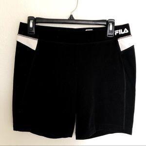 Fila sport shorts black and white size Medium